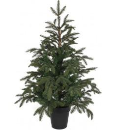 Искусственная елка Black Box Фантазия 100 см в горшке зеленая...