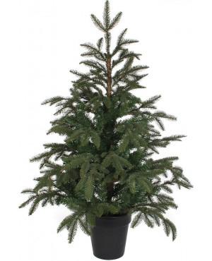 Искусственная елка Black Box Фантазия 100 см в горшке зеленая