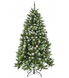 Искусственная елка Triumph Tree Императрица с шишками 215 см заснеженная...