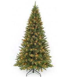 Искусственная елка Triumph Tree Лесная Красавица стройная с огоньками Triumph Tr...