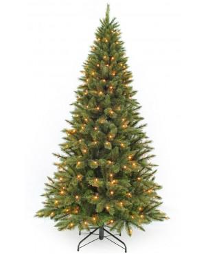 Искусственная елка Triumph Tree Лесная Красавица стройная с огоньками Triumph Tree 215 см зеленая