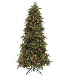 Искусственная елка Triumph Tree Нормандия стройная с огоньками 215 см зеленая
