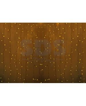 Новогодняя гирлянда дождь Led Neon Night, 2х1,5м, провод silicon, цвет желтый 235-301