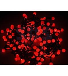 Новогодняя гирлянда Neon-night Мультишарики, красная, 20 м 303-502...