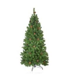 Ель искусственная Crystal Trees Триумфальная с шишками 210 см