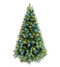 Ель искусственная Crystal Trees Этна с вплетенной гирляндой 180 см...
