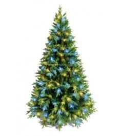 Ель искусственная Crystal Trees Этна с вплетенной гирляндой 210 см...