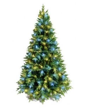 Ель искусственная Crystal Trees Этна с вплетенной гирляндой 210 см