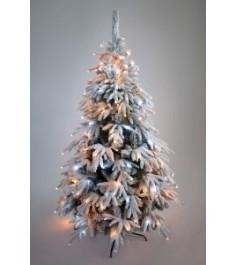 Ель искусственная Crystal Trees Маттерхорн заснеженная с вплетенной гирляндой 15...