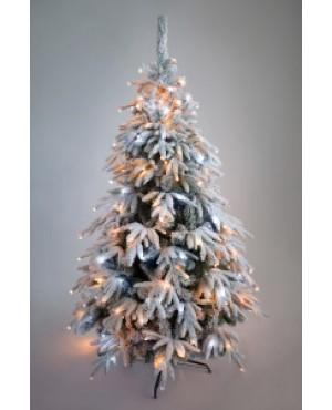 Ель искусственная Crystal Trees Маттерхорн заснеженная с вплетенной гирляндой 150 см