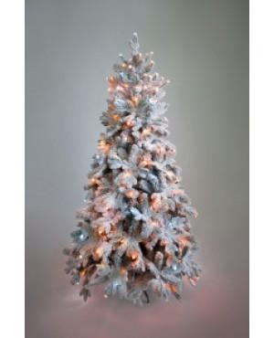 Ель искусственная Crystal Trees Габи заснеженная с вплетенной гирляндой 180 см