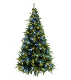 Ель искусственная Crystal Trees Альба с вплетенной гирляндой 210 см