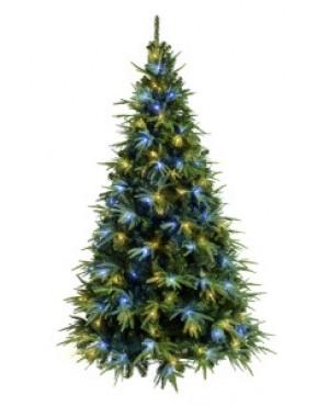 Ель искусственная Crystal Trees Альба с вплетенной гирляндой 180 см