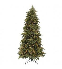 Искусственная елка Триумф Нормандия стройная 155 см с лампами зеленая...