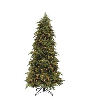 Искусственная елка Триумф Нормандия стройная 155 см с лампами зеленая