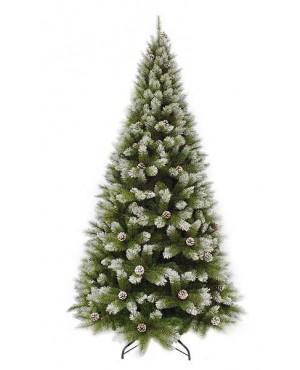 Искусственная елка Триумф Женева 230 см с шишками заснеженная