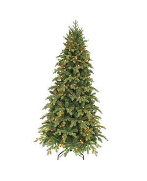 Искусственная елка Триумф Шервуд премиум стройная 230см 288 ламп зеленая