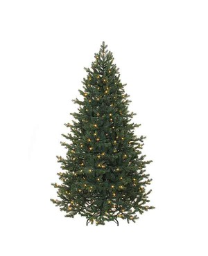 Искусственная елка Триумф Шервуд премиум 215 см 288 ламп FULL PE зеленая