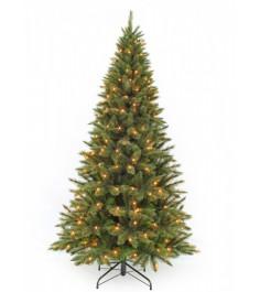 Искусственная елка Триумф Лесная красавица стройная 185 см 168 ламп зеленая