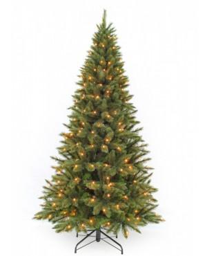 Искусственная елка Триумф Лесная красавица стройная 230 см 304 лампы зеленая