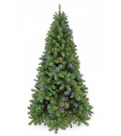 Искусственная елка Триумф Санкт-петербург 185 см 184 лампы теплый+мультиколор зе...