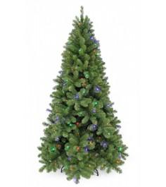 Искусственная елка Триумф Санкт-петербург 215 см 248 ламп теплый+мультиколор зел...
