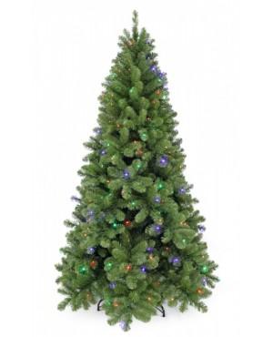 Искусственная елка Триумф Санкт-петербург 215 см 248 ламп теплый+мультиколор зелёная