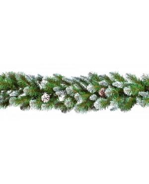 Новогодняя гирлянда декор Triumph Императрица с шишками 270x33 см заснеженная