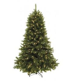 Искусственная елка Triumph Tree Женева с огоньками 215 см заснеженная