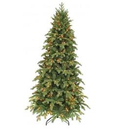 Искусственная елка Triumph Tree Шервуд Премиум стройная с огоньками 155 см зелен...